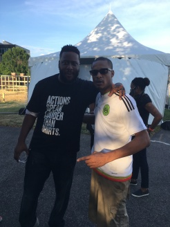 UHA Co-Founder Eric Bailey w/ jazz pianist Robert Glasper @ DC Jazz Festival 2017, Yards Park, Washington, DC 6/17/17