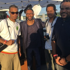 UHA Co-Founders Eric, William & Jamaal Bailey w/ saxophone legend Kenny Garrett @ DC Jazz Festival, Washington, DC 6/17/17