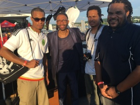 UHA Co-Founders Eric, William & Jamaal Bailey w/ saxophone legend Kenny Garrett @ DC Jazz Festival, Washington, DC 6/17/17