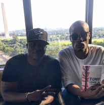 Eric Bailey w/ community activist and author Tony Lewis, Jr. @ The W. Hotel, Washington, DC Book 8/4/17