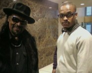 Eric Bailey w/ the late Godfather of Go-Go Chuck Brown