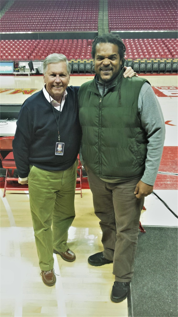 Jamaal Bailey w/ local broadcasting legend Johnny Holiday @ University of Maryland 2015