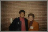 Jamaal Bailey w/ former DC Mayor Sharon Pratt Kelly @ Howard University, Washington, DC 2/3/94