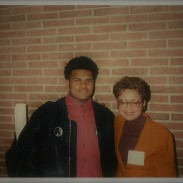 Jamaal Bailey w/ former DC Mayor Sharon Pratt Kelly @ Howard University, Washington, DC 2/3/94