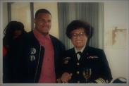 Jamaal Bailey w/ former US Surgeon General Dr. Jocelyn Elders @ Howard University, Washington, DC c. 1993