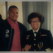 Jamaal Bailey w/ former US Surgeon General Dr. Jocelyn Elders @ Howard University, Washington, DC c. 1993