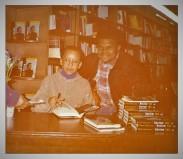 Jamaal Bailey w/ author and activist Nikki Giovanni @ Olsson's Bookstore, Washington, DC 2/23/94