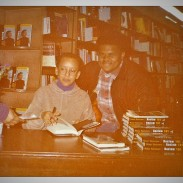 Jamaal Bailey w/ author and activist Nikki Giovanni @ Olsson's Bookstore, Washington, DC 2/23/94