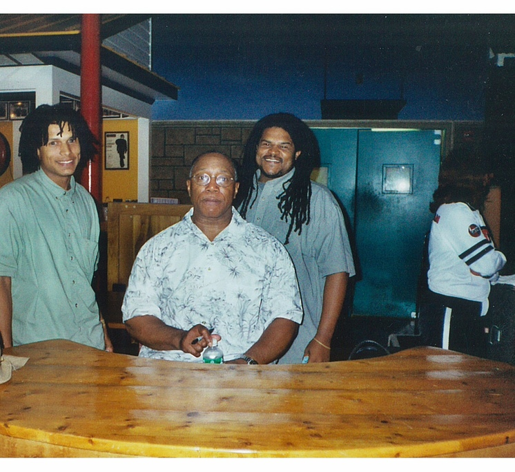 William and Jamaal Bailey w/ legendary jazz drummer Billy Cobham at The Birchmere, Alexandria, VA