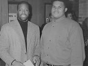 Jamaal Bailey w/ NFL Hall of Famer Darryl Green, Howard University, Washington, DC 2/3/94