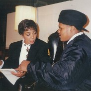Jamaal Bailey w/ the late legendary actress Ruby Dee @ National Portait Museum, Washington, DC 2/7/94