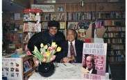 Jamaal Bailey w/ former US Ambassador and political insider the late Carl T. Rowan @ Reprint Bookstore, Washington, DC 2/8/94