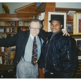 Jamaal Bailey w/ legendary journalist Larry King @ Kramer Bookstore, Washington, DC 11/18/93