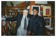 Jamaal Bailey w/ legendary journalist Larry King @ Kramer Bookstore, Washington, DC 11/18/93