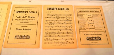 "Original Arrangement Manuscript for Jelly Roll Morton's composition ""Grandpa's Spells"""