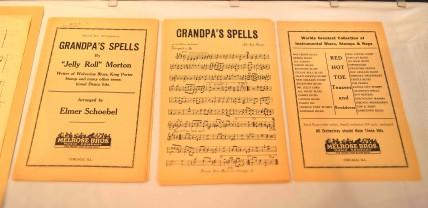 "Original Arrangement Manuscript for Jelly Roll Morton's composition ""Grandpa's Spells"""