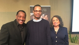 Eric Bailey w/ radio host Donnie Simpson and Founder of Radio One Cathy Hughes @ AARP, Washington, DC 2016