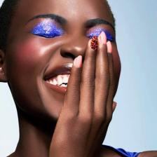 "Lupita Nyongo - ""Perfect Princess"" nails by Bernadette Thompson"