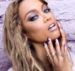 "Tyra Banks wearing ""Purple Reign"""