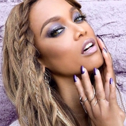 "Tyra Banks wearing ""Purple Reign"""